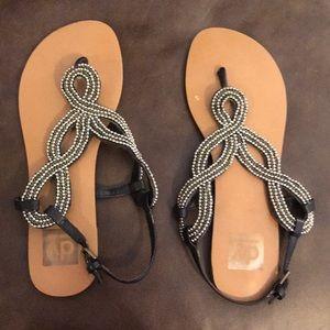 Dolce Vita black beaded flat sandal